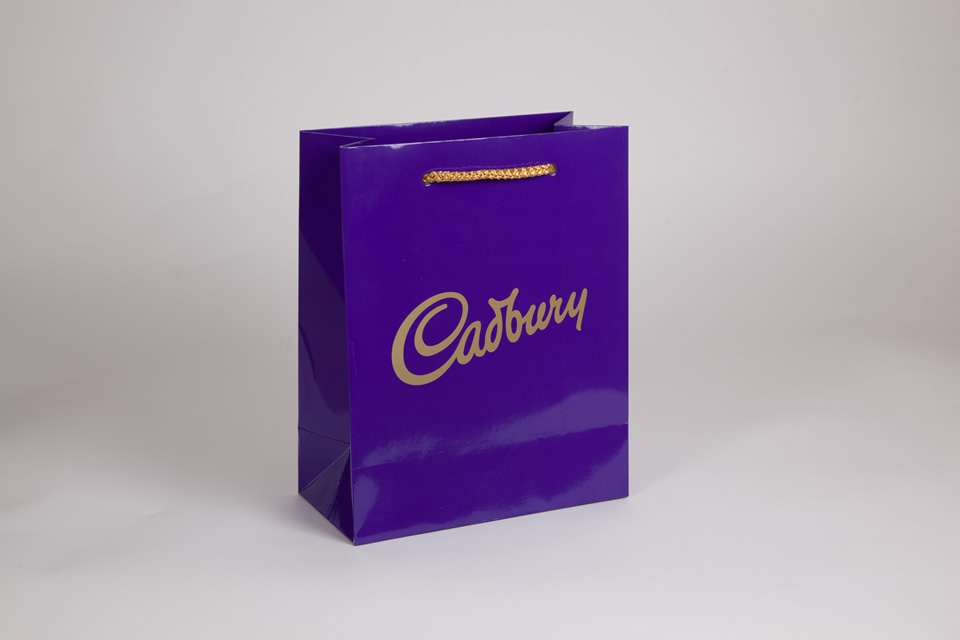 Gloss laminated branded luxury gift bag